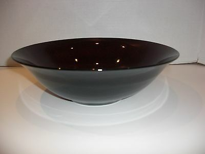 Vintage Ruby Red Glass Large BOWL - 11 3/8 top diameter
