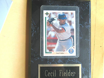 Cecil Fielder Plaque 1991
