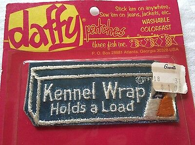 Kennel Wrap Holds a Load Daffy Patch Vintage Rare by Three Fish Inc. 1974 NIP