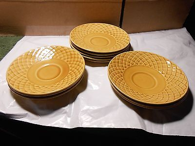 11 Gold Medallion Enoch Wedgewood Tunstall  Tea Cup Saucers