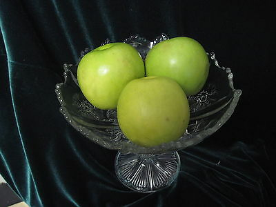 Antique (1906-8) Higbee Thistle compote. excellent cond, RARE, lovely item!
