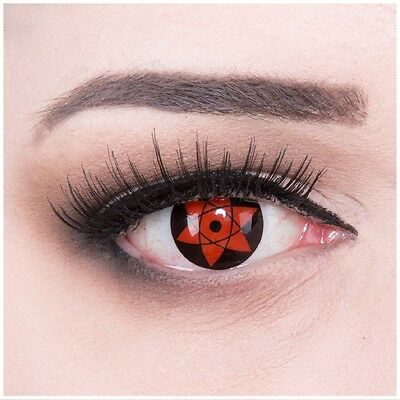 Coloured Contact Lenses Fun Sharingan BIG Uchiha Anime Carnival + Free Case