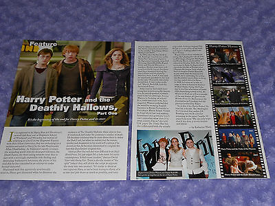 Harry Potter and the Deathly Hallows, 2 Page Clipping, Radcliffe, Watson, Grint