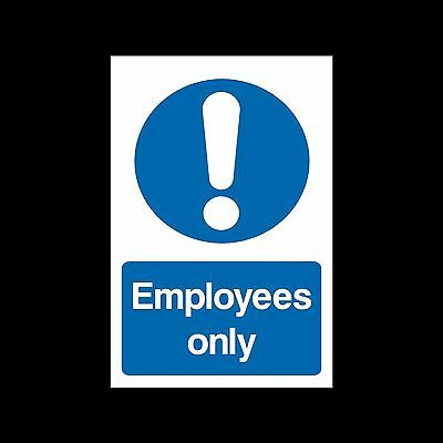 Employees Only - Plastic Sign or Sticker - All Sizes/Materials - (MISC70)