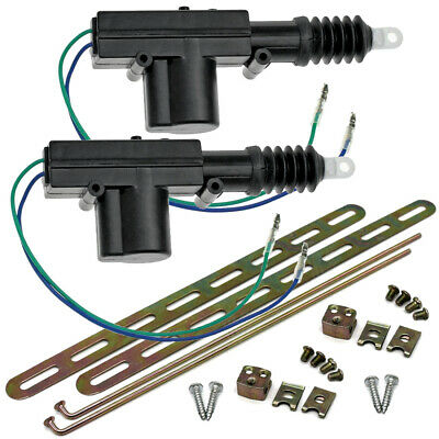 2 Heavy Duty Power Door Lock Actuator Motor 12-volt For Car Door Locks (Pair)