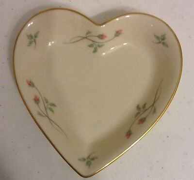 Lenox China Rose Manor Heart Dish Hand Decorated With 24K Gold Mint