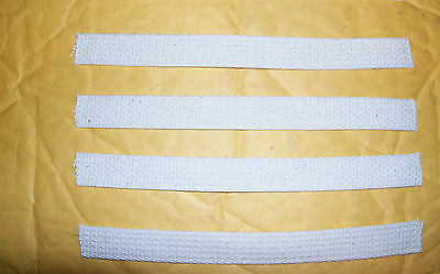 Four 3/4 Inch Wide Wicks for Oil or Kerosene Lamps, 8 Inches Long USA Made  5001