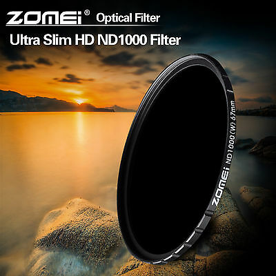 ZOMEI 82mm 10-stop HD Slim ND1000 Optical Glass Neutral Density filter For DSLR
