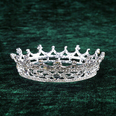 Pageant Full Circle Tiara Queen Crown Jewelry Crystal Headpiece Hair Accessory