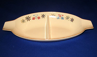 RARE FRANCISCAN LARKSPUR DIVIDED VEGETABLE DISH - MADE IN CALIFORNIA