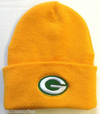0268b4e44e9 GREEN BAY PACKERS Knit Beanie Hat Cuffed Superbowl Champs Nfl ...