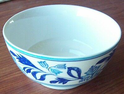 """Johnson Brothers England Farmhouse Kitchen Blue Fern Cereal Bowl 5 1/4"""""""