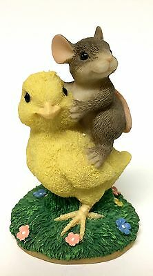 Fitz & Floyd Charming Tails Chickie Back Ride 88/700 Artist Signed Dean Griff