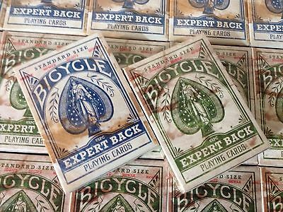Set of 2 Bicycle Expert Back Blue & Green Playing Cards Decks New Rare