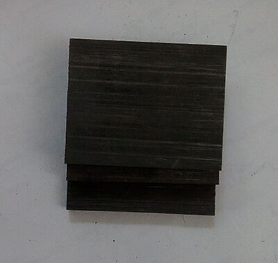 3pcs High Purity 99.99% Graphite Electrode Rectangle Plate 50*40*3mm #UA5-3
