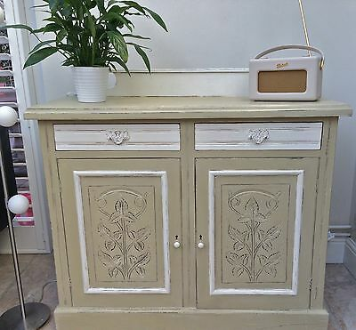 Stunning Victorian chiffonier / sideboard Hand Painted * Shabby Chic *