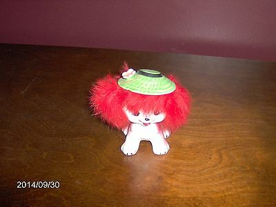 Vintage California Creations by Bradley puppy dog furry with hat