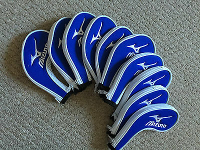 10Pcs High Quality Long Zipper Golf Iron Head Covers/Headcovers for Mizuno