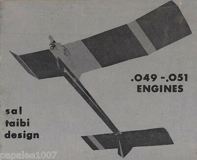 Model Airplane Plans: STARDUSTER 350 1/2A FF by Sal Taibi (Kit plans & patterns)