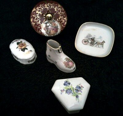 LOVELY AND PETITE 'LIMOGES' TRINKET COLLECTION