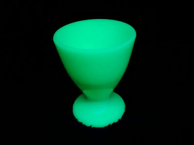 McKee custard colored uranium glass egg/juice cup - 1930's
