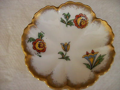 ELITE LIMOGES SMALL SCALLOPED DISH/PLATE ART DECO