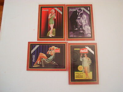 1995 COCA COLA SERIES 4 SILVER ETCHED CHASE CARD SET