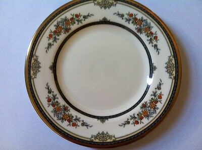 "Minton ""Stanwood"" Bread Plate 6 5/8"" (Gold Trim) MINT Condition!"
