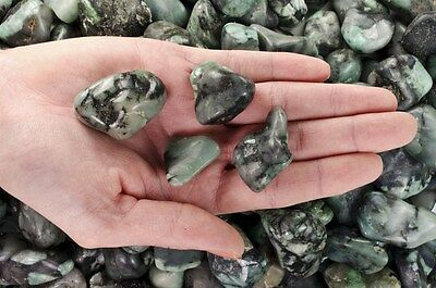 1 Pound Tumbled Emerald - 'A' Grade - Wire Wrapping, Reiki, Crystal Healing
