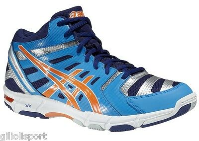 ASICS GEL - BEYOND 4 MT Scarpe Uomo Pallavolo B403N-4130 D.BLUE/N.ORANGE/NAVY