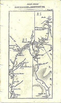 Antique map, Aberdeen to Monymusk (2)