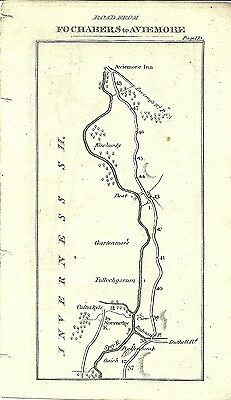 Antique map, Fochambers to Aviemore (2) / Forres to Grantown / Nairn to Fort Geo