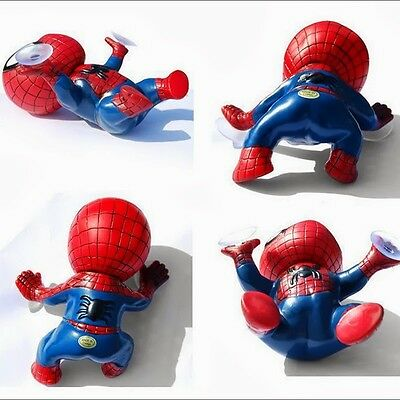 Red New Auto Suction Cup Lovey Spider Man Car Home Dashboard Doll Decor Cool