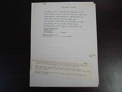 1965 Indianapolis Clowns Blank Player Contract Agreement Negro Leagues RARE