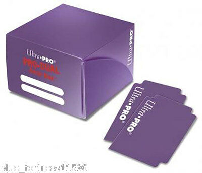 PURPLE ULTRA PRO PRO-DUAL DECK BOX FOR MTG WoW POKEMON YUGIOH HOLDS 180 CARDS