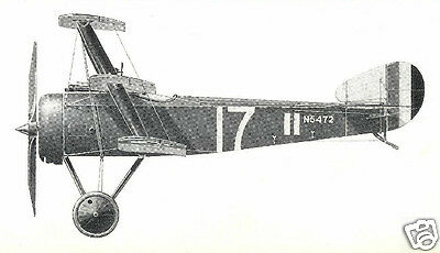 """Model Airplane Plans: SOPWITH TRIPLANE • Perfect Scale 35"""" FF for .049 (.75cc)"""