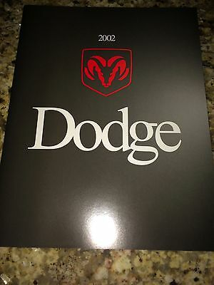 "2002 Dodge Cars & Trucks ""Full Line"" 20-page Original Sales Brochure"