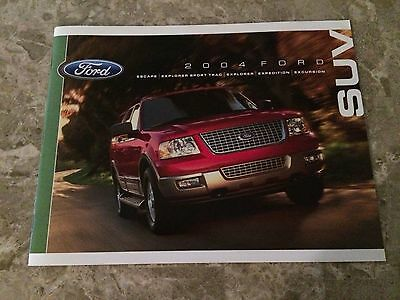 """2004 Ford SUV """"Full Line"""" 24-page Original Sales Brochure"""