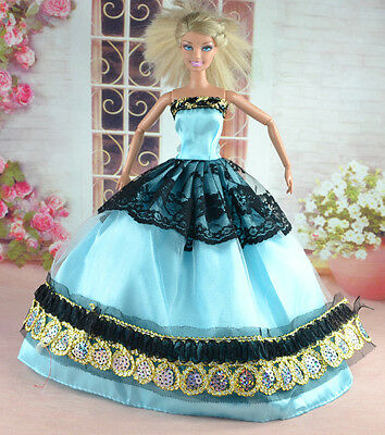New Handmade Party Clothes Fashion Dress for Noble Doll  #y30