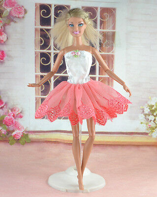 Handmade Party Clothes Fashion Dress for Noble Barbie Doll   #y45