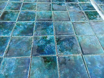 ANTIQUE FIREPLACE MAW & CO MADE IN ENGLAND BEAUTIFUL TILES 3 INCH SQUARES