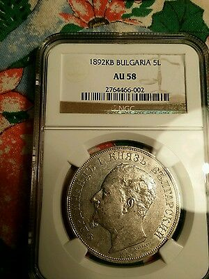 Wow 5 Leva 1892 Ngc Bulgarian Coin Ngc Pcgs Certified Very Rare Coin Bulgaria