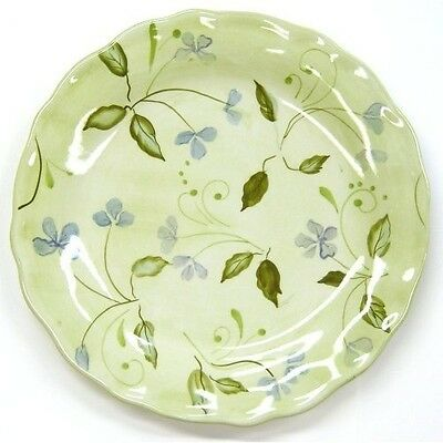 "Floral TRACY PORTER Hand-Painted~EVELYN~ 9"" Round SALAD Dessert PLATE~Great Cond"