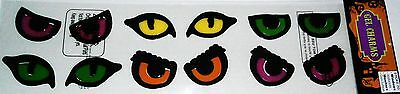 Halloween Gel Window Stick -Ons   COLORFUL SCARY EYES
