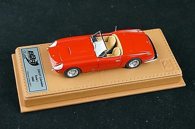 1/43 BBR FERRARI 250 GT CABRIO I SERIE RED ON DELUXE LEATHER BASE LE 10 PCS N MR