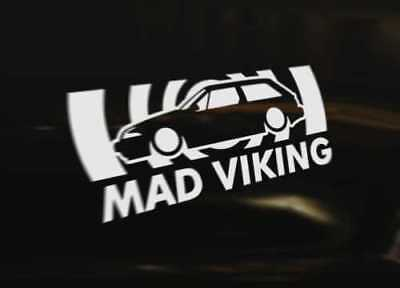 480 Turbo MAD VIKING Decal Sticker Graphic