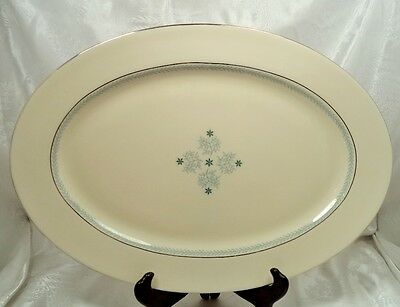 "LENOX CHARMAINE PORCELAIN CHINA C512  DISHES 16 1/4"" OVAL SERVING PLATTER USA"