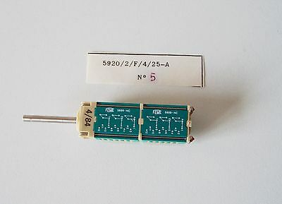 6P4T Rotary Switch 6-Pole 4-Positions Feme 5920/2/F/4/25-A Gold Pins