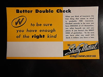 vintage blotters with advertisemen of Shelby Mutual Insurance