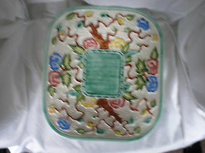 INDIAN TREE SQUARED CHARGER  by H.J. Wood Ltd  Numbered & signed